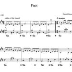 Papi, partition piano